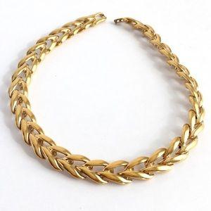 Vintage Napier Necklace Gold Foxtail Chain Collar